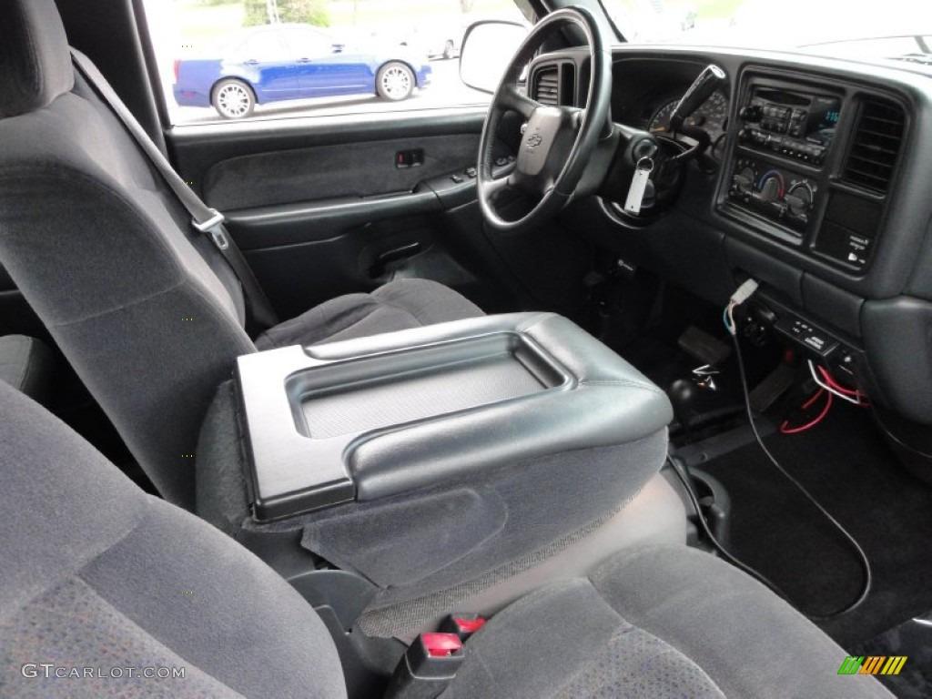 2002 Silverado 1500 LS Extended Cab 4x4 - Onyx Black / Graphite Gray photo #21