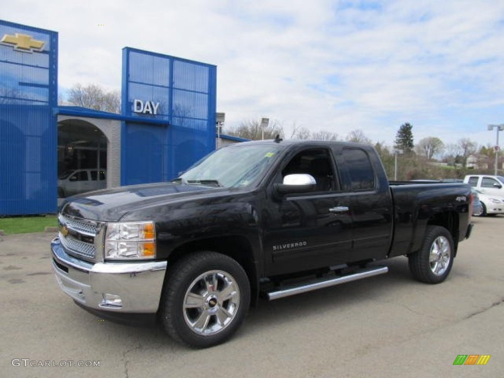 2012 Silverado 1500 LT Extended Cab 4x4 - Black Granite Metallic / Light Titanium/Dark Titanium photo #1