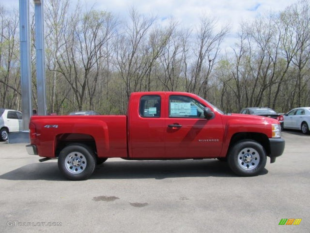 victory red 2012 chevrolet silverado 1500 work truck extended cab 4x4 exterior photo 63110176. Black Bedroom Furniture Sets. Home Design Ideas