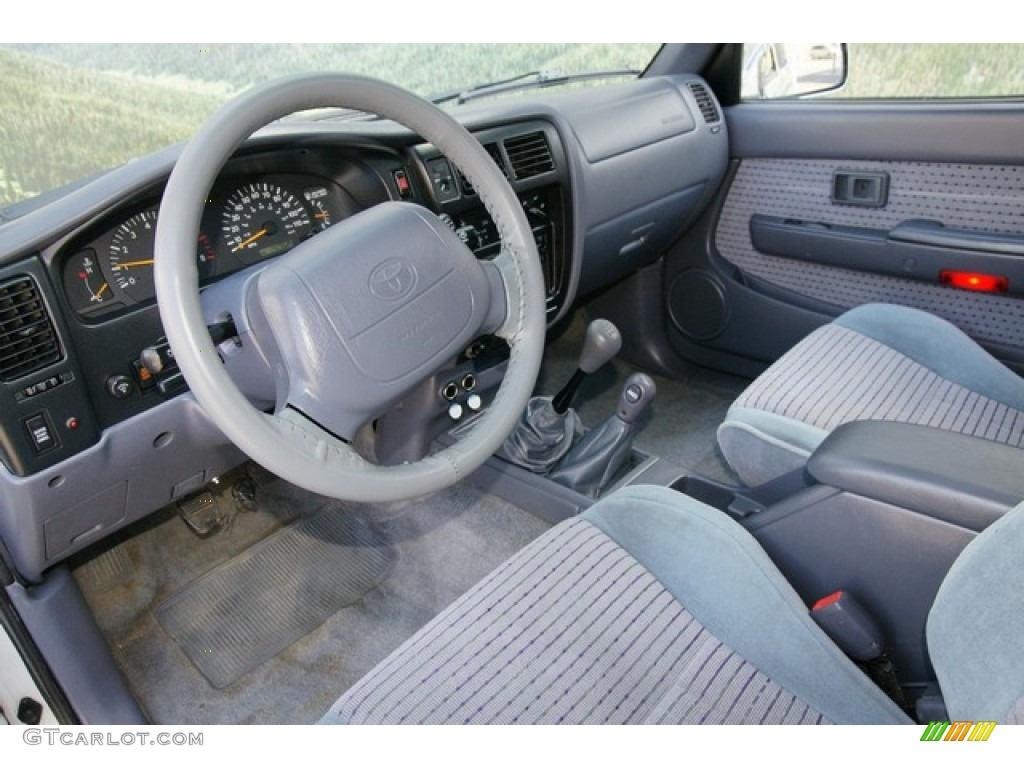 Blue Interior 1999 Toyota Tacoma Limited Extended Cab 4x4 Photo 63146266