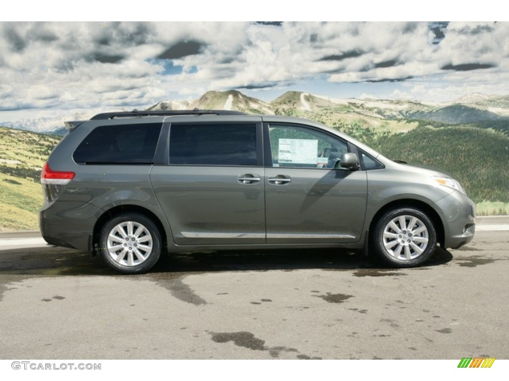 2012 cypress green pearl toyota sienna limited awd. Black Bedroom Furniture Sets. Home Design Ideas