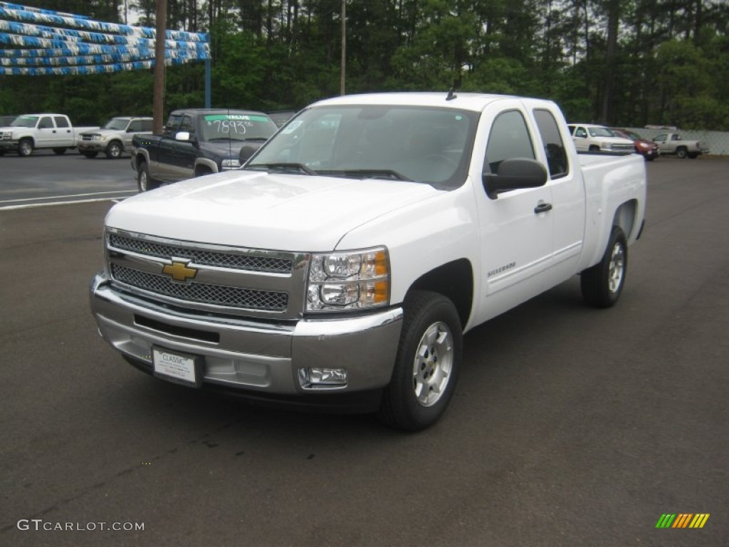 2012 Silverado 1500 LT Extended Cab - Summit White / Light Titanium/Dark Titanium photo #1
