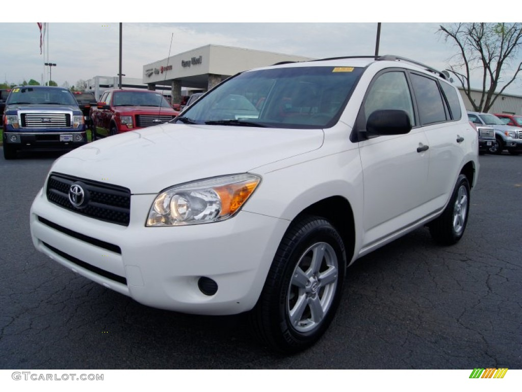 super white 2007 toyota rav4 i4 exterior photo 63161367. Black Bedroom Furniture Sets. Home Design Ideas