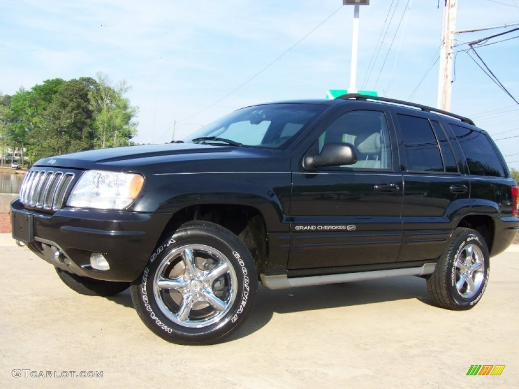 2002 black jeep grand cherokee overland 4x4 63101219. Black Bedroom Furniture Sets. Home Design Ideas