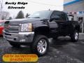 2012 Black Chevrolet Silverado 1500 LT Extended Cab 4x4  photo #1