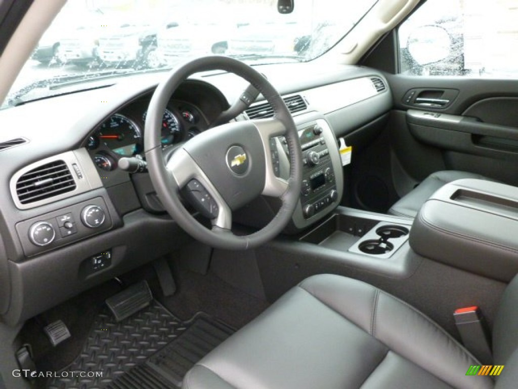 Ebony Interior 2012 Chevrolet Silverado 1500 Ltz Extended Cab 4x4 Photo 63174640