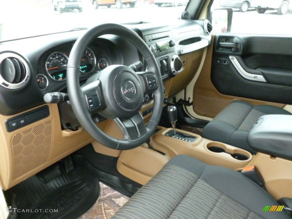 2011 Sahara Tan Jeep Wrangler Unlimited Rubicon 4x4 63169838 Photo 12 Car