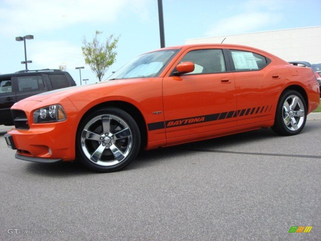 Hemi Orange Pearl 2008 Dodge Charger R T Daytona Exterior
