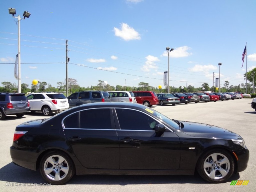 Black Sapphire Metallic 2008 Bmw 5 Series 535i Sedan