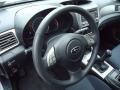 2009 Subaru Impreza Carbon Black Interior Steering Wheel Photo