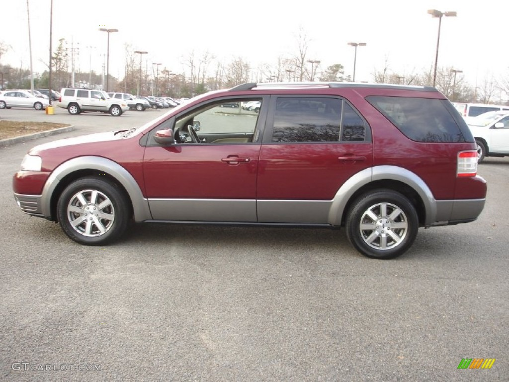 merlot metallic 2008 ford taurus x sel exterior photo. Black Bedroom Furniture Sets. Home Design Ideas