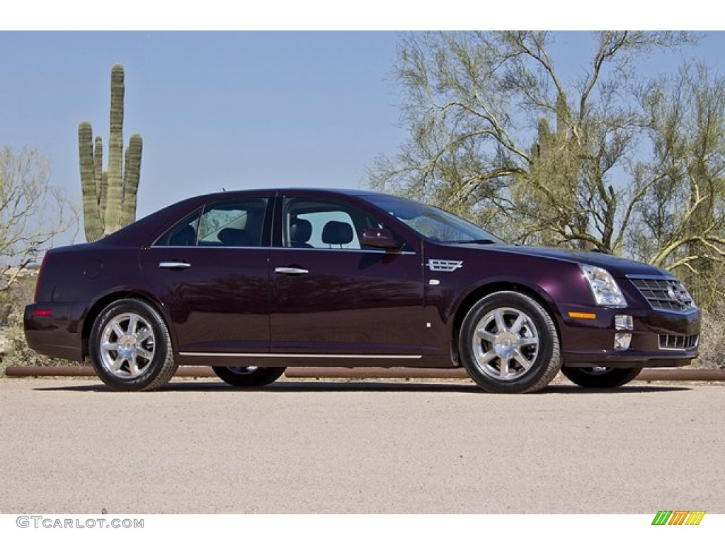 black cherry 2008 cadillac sts 4 v6 awd exterior photo. Black Bedroom Furniture Sets. Home Design Ideas