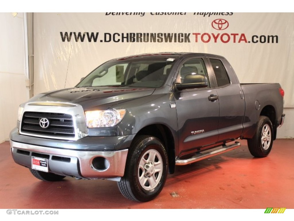 2009 Tundra Double Cab 4x4 - Slate Gray Metallic / Graphite Gray photo #1
