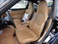 2007 Porsche 911 Black/Sand Beige Interior Front Seat Photo