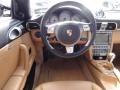 2007 Porsche 911 Black/Sand Beige Interior Steering Wheel Photo