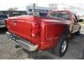 2008 Inferno Red Crystal Pearl Dodge Ram 3500 Big Horn Edition Quad Cab Dually  photo #3