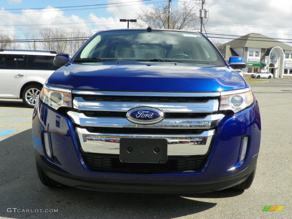 Deep Impact Blue Metallic 2013 Ford Edge Sel Awd Exterior