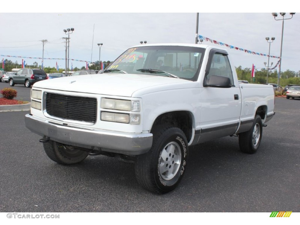 1993 White Gmc Sierra 1500 Sle Regular Cab 4x4 63243222