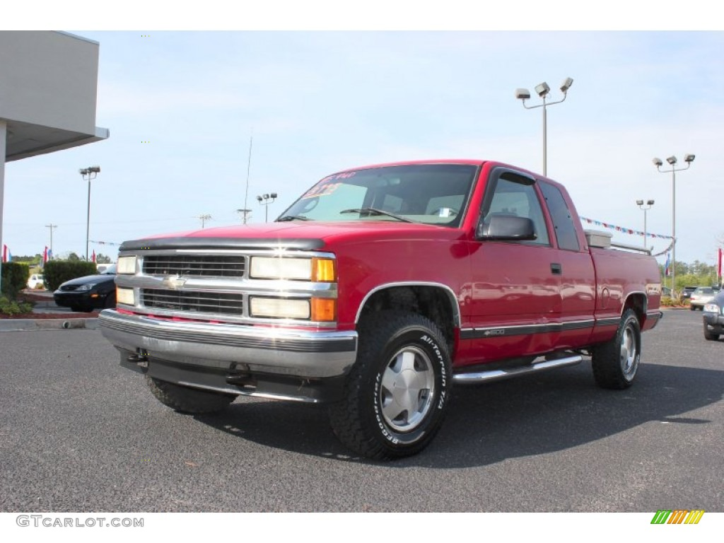 1995 victory red chevrolet c k k1500 silverado z71 extended cab 4x4 63243221 photo 4. Black Bedroom Furniture Sets. Home Design Ideas