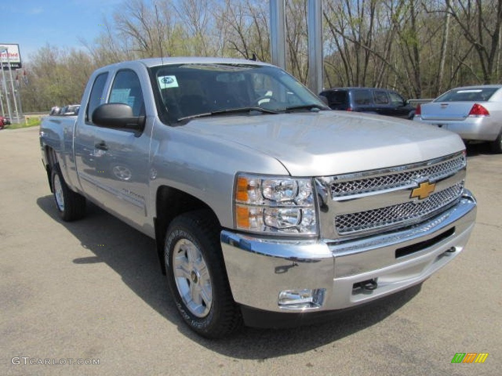 2012 Silverado 1500 LT Extended Cab 4x4 - Silver Ice Metallic / Ebony photo #5