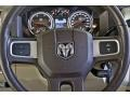 Light Pebble Beige/Bark Brown Steering Wheel Photo for 2010 Dodge Ram 3500 #63257722