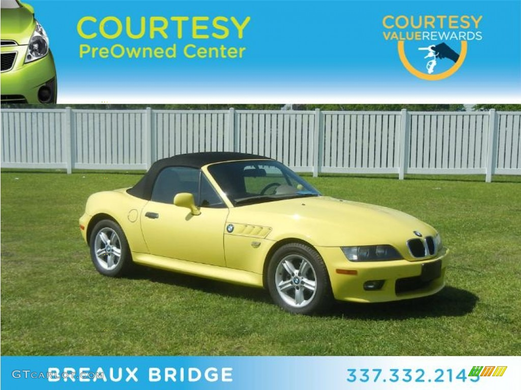2002 Dakar Yellow Bmw Z3 2 5i Roadster 63243537
