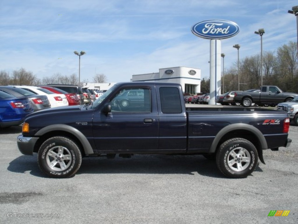 Deep wedgewood blue metallic 2003 ford ranger fx4 supercab 4x4 exterior photo 63272719