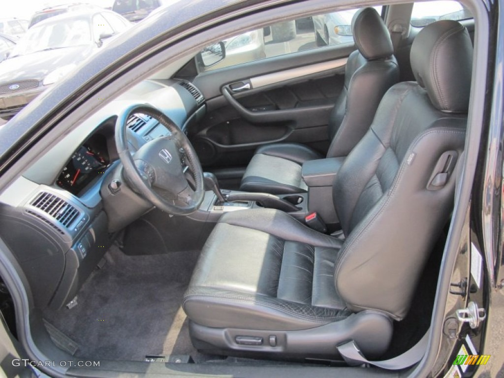 Black Interior 2006 Honda Accord Ex L Coupe Photo