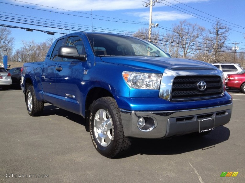 2008 Tundra SR5 TRD Double Cab 4x4 - Blue Streak Metallic / Graphite Gray photo #3