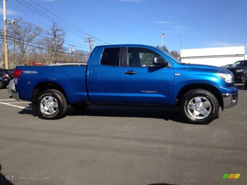 2008 Tundra SR5 TRD Double Cab 4x4 - Blue Streak Metallic / Graphite Gray photo #4
