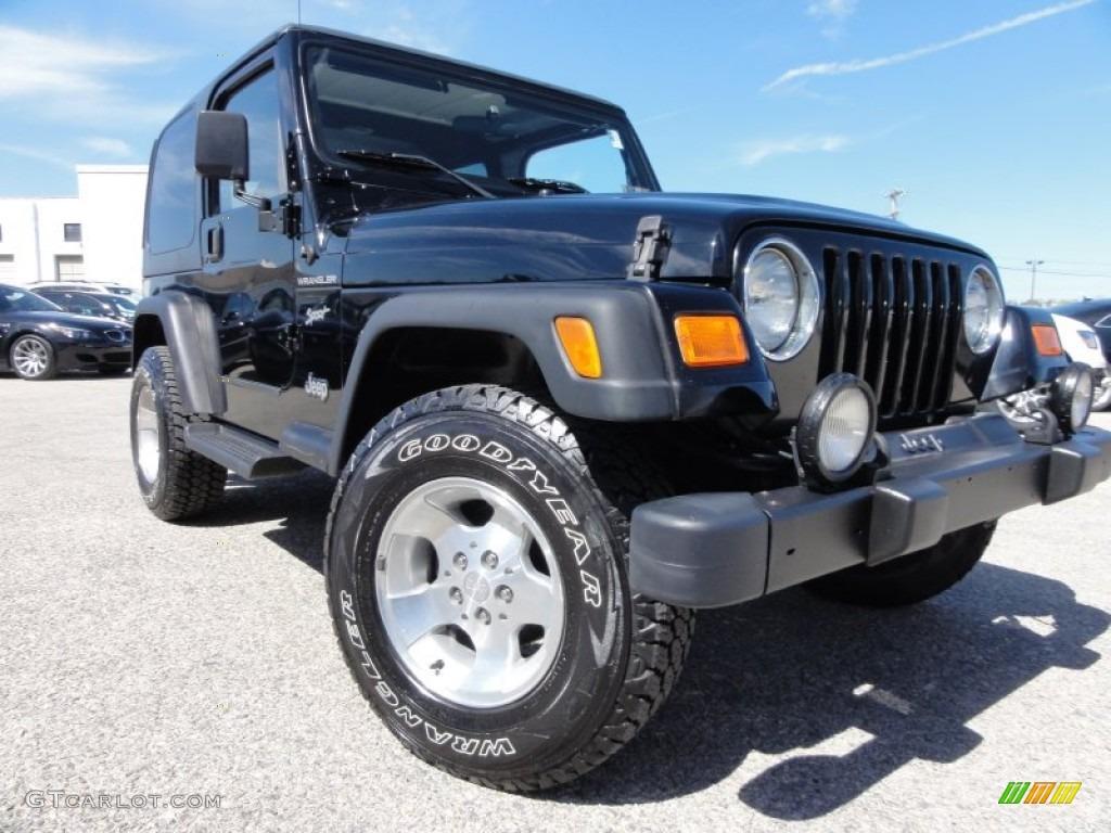 2002 black jeep wrangler sport 4x4 63242588 gtcarlot. Black Bedroom Furniture Sets. Home Design Ideas