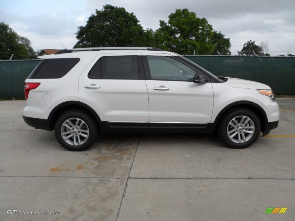 White platinum tri coat 2013 ford explorer xlt exterior photo 63311315 gtcarlot com