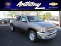 2012 Mocha Steel Metallic Chevrolet Silverado 1500 LT Crew Cab 4x4  photo #1
