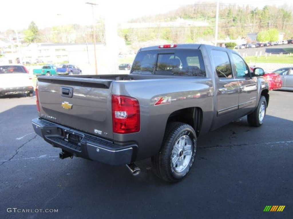2012 Silverado 1500 LT Crew Cab 4x4 - Mocha Steel Metallic / Light Cashmere/Dark Cashmere photo #7