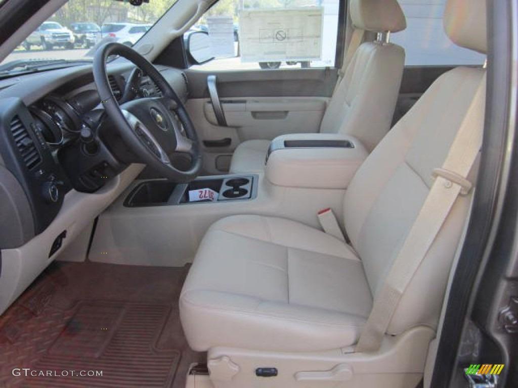 2012 Silverado 1500 LT Crew Cab 4x4 - Mocha Steel Metallic / Light Cashmere/Dark Cashmere photo #16