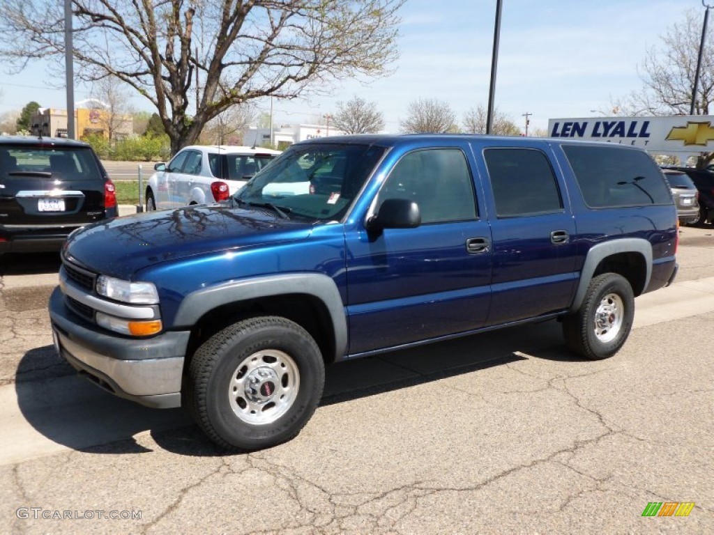 2001 suburban 2500 ls 4x4 indigo blue metallic graphite photo 1