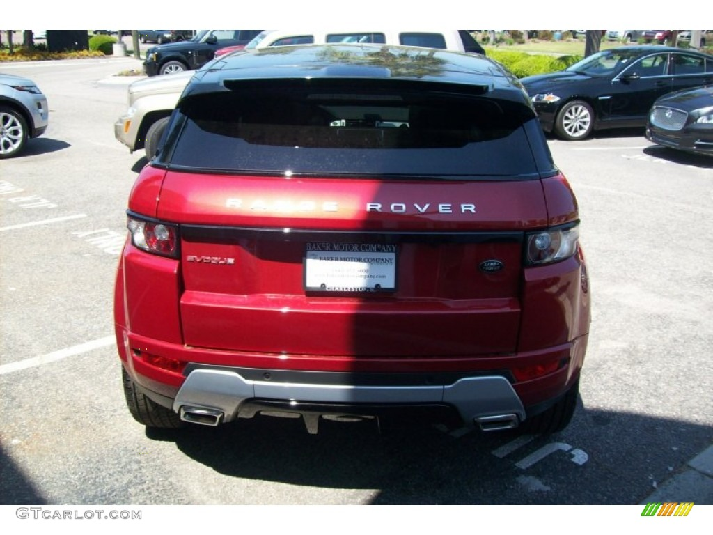 2012 firenze red metallic land rover range rover evoque. Black Bedroom Furniture Sets. Home Design Ideas