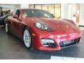 Front 3/4 View of 2013 Panamera GTS