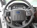 2012 White Platinum Metallic Tri-Coat Ford F250 Super Duty Lariat Crew Cab 4x4  photo #35