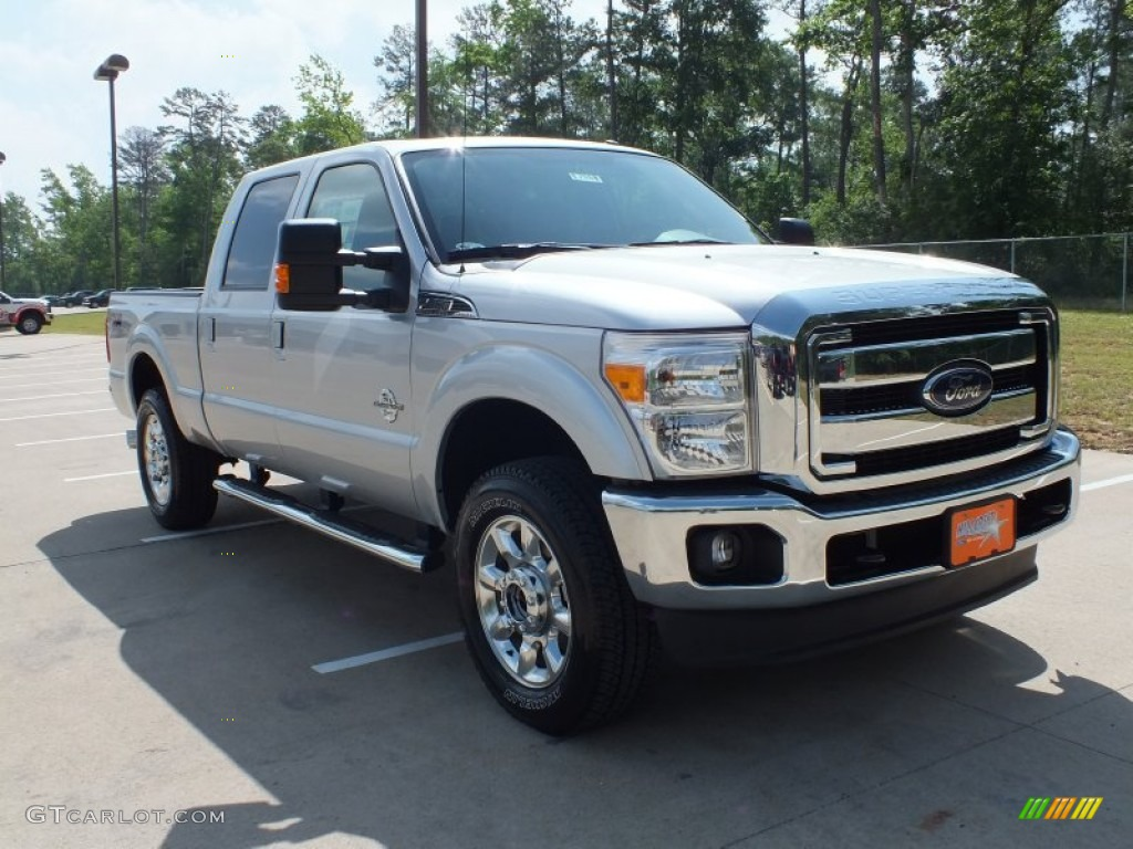 2012 ingot silver metallic ford f250 super duty lariat crew cab 4x4 63384561. Black Bedroom Furniture Sets. Home Design Ideas