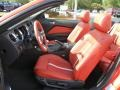 2013 Ford Mustang Brick Red/Cashmere Accent Interior Interior Photo