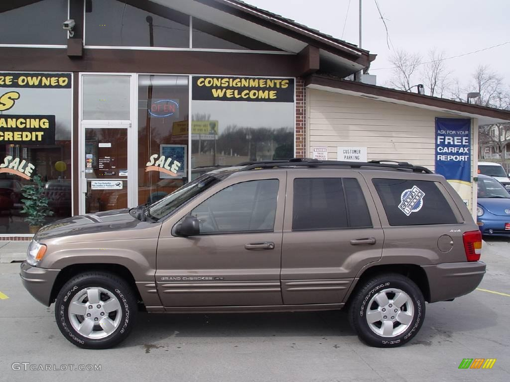 2001 woodland brown satin glow jeep grand cherokee limited 4x4
