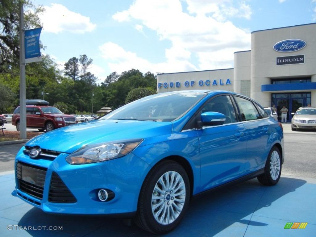 2012 Blue Candy Metallic Ford Focus Titanium Sedan 63383836 Gtcarlot Com Car Color Galleries