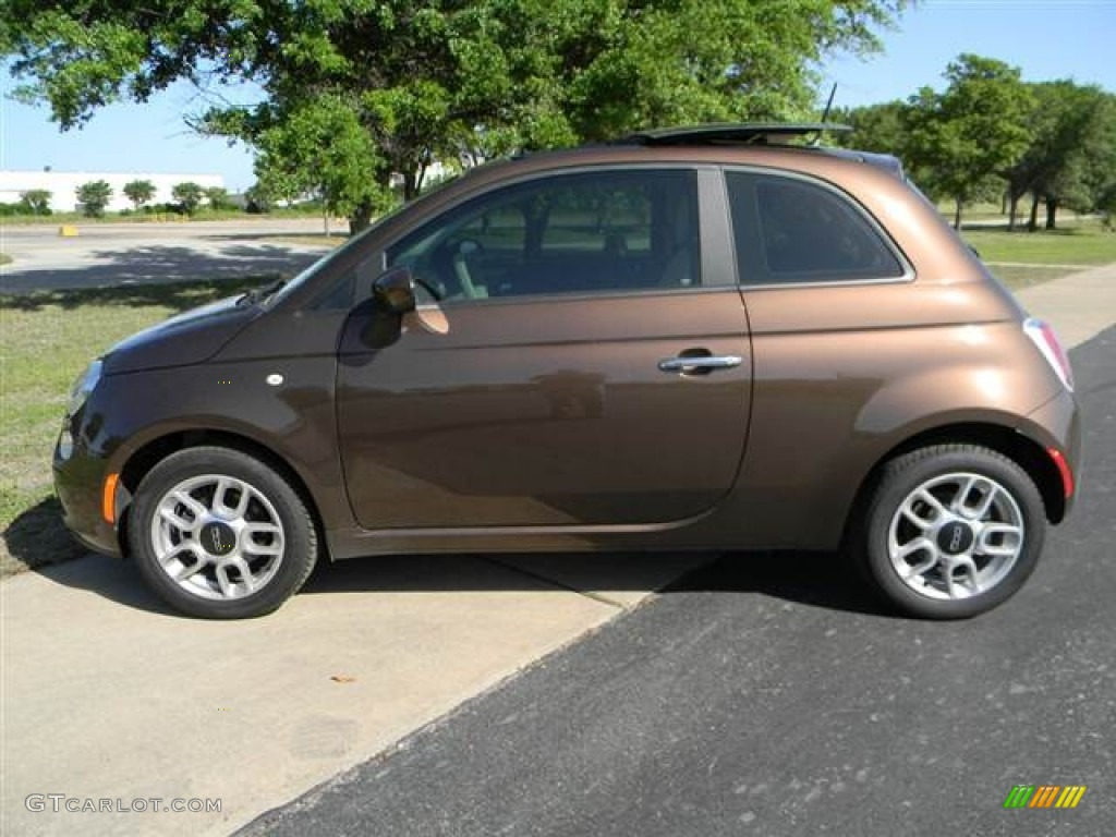 Espresso Brown 2012 Fiat 500 Pop Exterior Photo