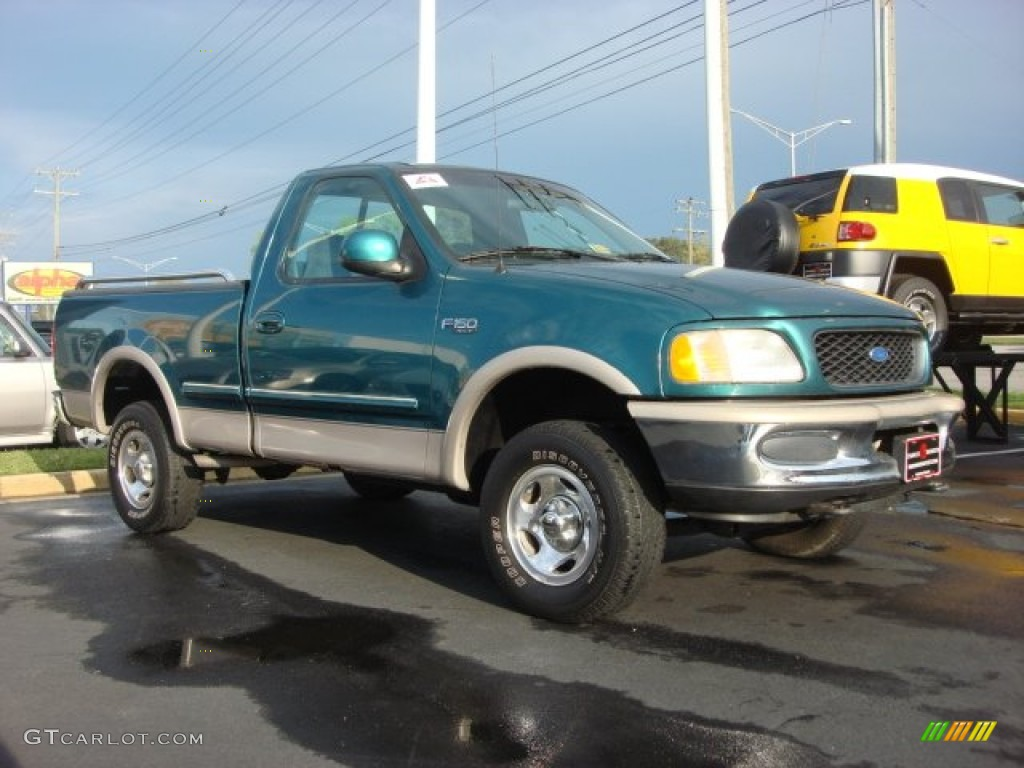 pacific green metallic 1997 ford f150 regular cab 4x4. Black Bedroom Furniture Sets. Home Design Ideas