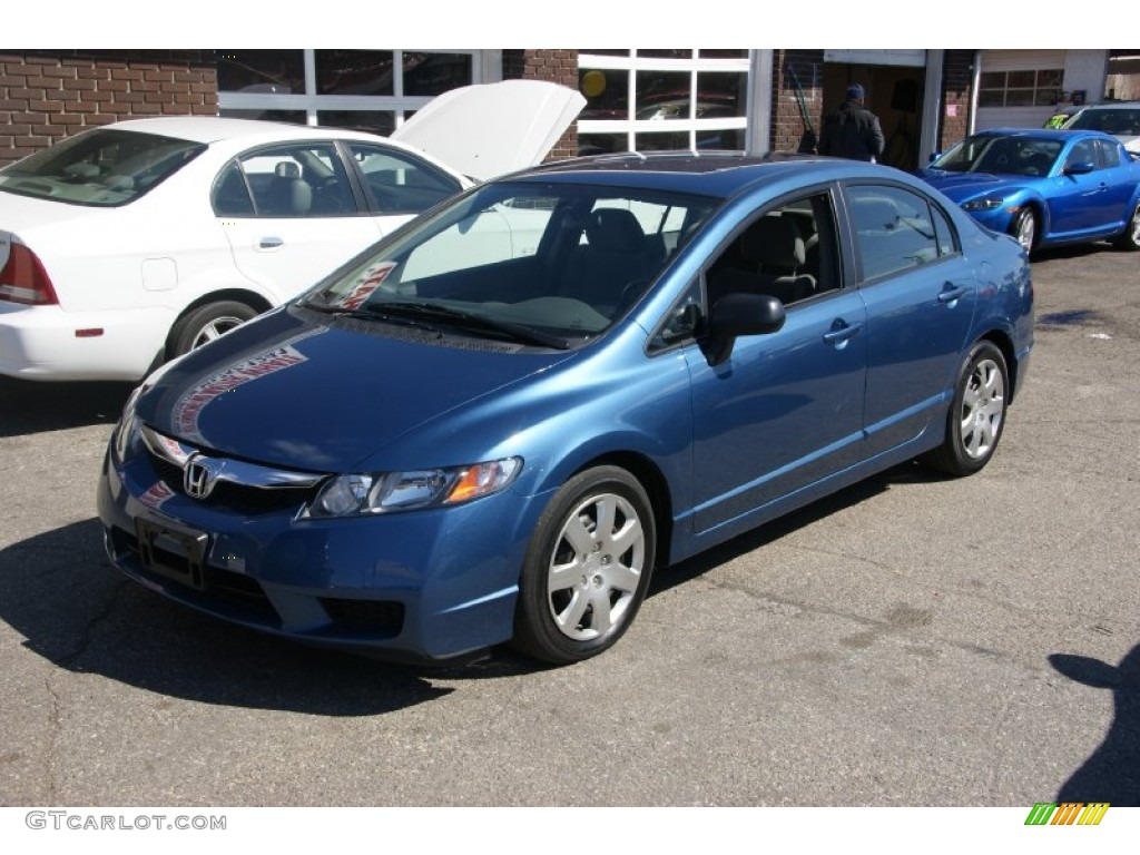 2009 Atomic Blue Metallic Honda Civic Lx Sedan 63384046