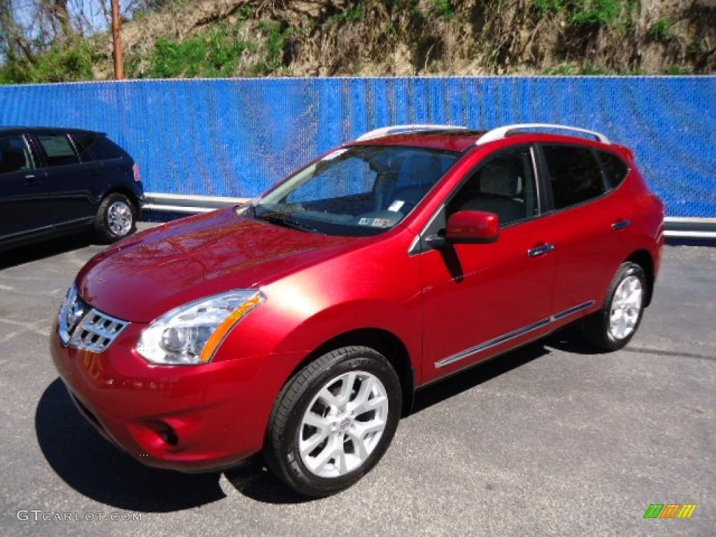 2011 Cayenne Red Nissan Rogue Sl Awd 63384299 Photo 2
