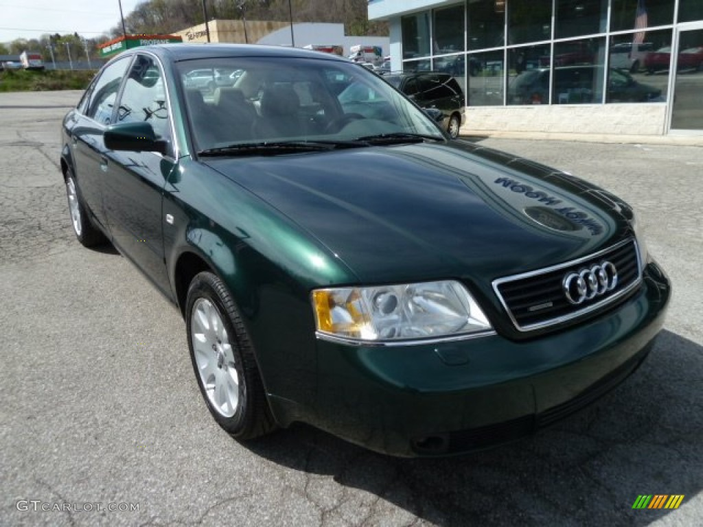 racing green pearl 2000 audi a6 2 8 quattro sedan exterior. Black Bedroom Furniture Sets. Home Design Ideas