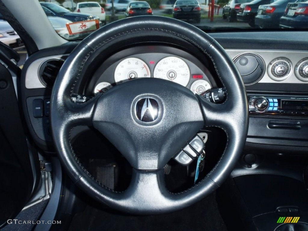 Acura RSX Sports Coupe Ebony Black Steering Wheel Photo - Acura rsx steering wheel