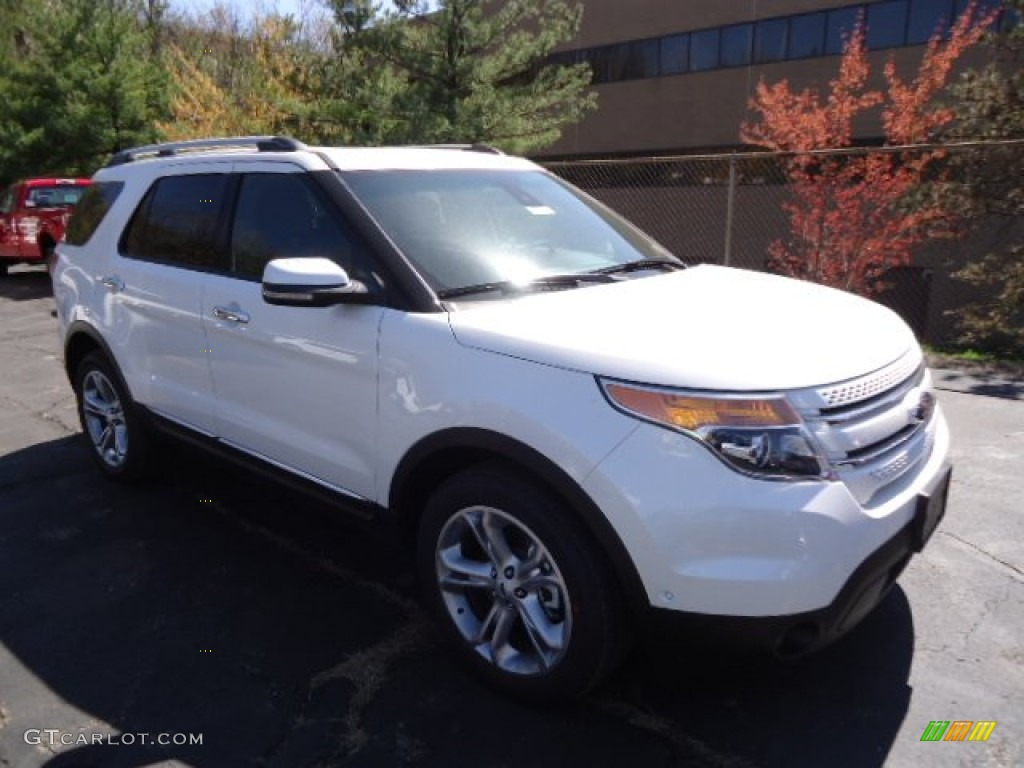 2013 white platinum tri coat ford explorer limited 4wd 63450550 car color. Black Bedroom Furniture Sets. Home Design Ideas